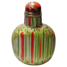 Chinese Snuff Bottle in Milleflori Technique