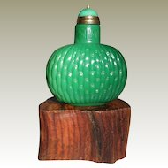Snuff Bottle with Basket Weave Pattern