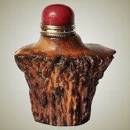 Old Chinese Snuff Bottle Deer Antler