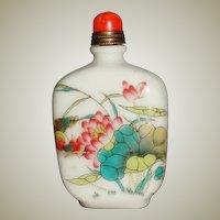 Chinese Snuff Bottle enameled Porcelain
