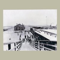China 1903: Large Photo Station Tientsin Tianjin