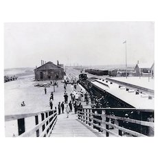 China 1903: Large Photo Station Tientsin Tianjin
