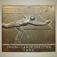 Bronze Plaque: Table Tennis Championship.