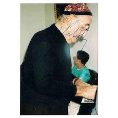 Friedrich Gulda Autograph on Photo. CoA