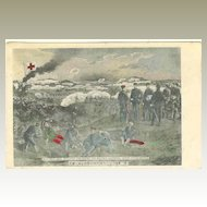 Russo Japanese War, 1904: Tinted Postcard. Red Cross.