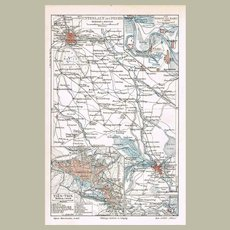 Old China Bei He Tianjin Map from 1900