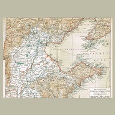 China Zhi Li and Shandong Province Map from 1900