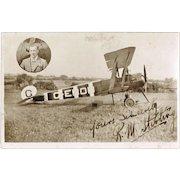 Scarce Autograph by Pilot R. M. Sterling.