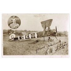 Scarce Autograph by Pilot R. M. Sterling.