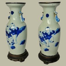 Pair of Chinese Vases 19. ct