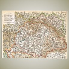 Antique Map from Europe: Austro-Hungarian Empire. 1903