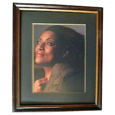 Jessye Norman Autograph, large signed Photo in Frame. COA - Red Tag Sale Item