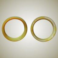 Agate Bangle scarce Stone Yellow White Banded