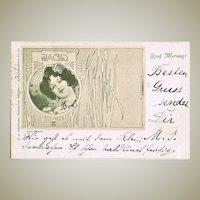Kolo Moser Postcard from 1898 Wiener Werkstaette
