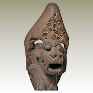 Antique Bali Wooden Sculpture. 19th Ct.