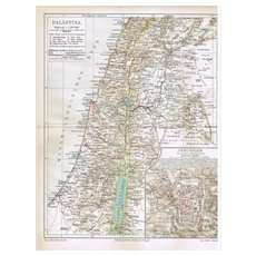 2 old Maps Jerusalem and Palestine 1900