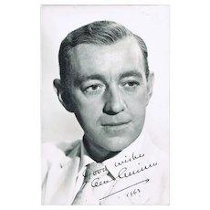Sir Alec Guiness Autograph. CoA