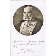 Austrian Emperor Francis Joseph: Vintage Postcard, ca. 1918