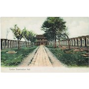 Old Chinese Postcard. Examination Hall in Canton.