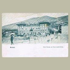 Mostar. Vintage Postcard from Bosnia. ca. 1900