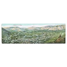 Panorama Postcard Mostar in Bosnia 1909