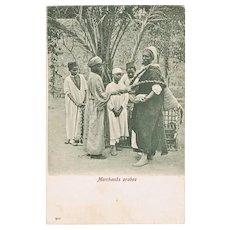 Arabian Merchants: Egyptian Vintage Postcard from 1904