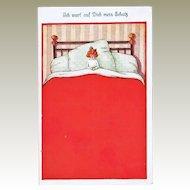 Funny Vintage Postcard. I am waiting for you.