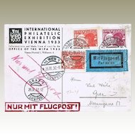 International Philatelic Exhibition 1933: Austrian Air Mail.