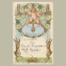 Happy Easter: Embossed Postcard from 1901