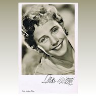 Maria Schell Autograph: Hand-signed Photo. CoA