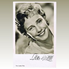 Maria Schell Autograph: Hand-signed Photo. CoA