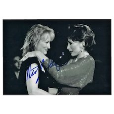 Meryl Streep Autograph. Hand Signed Photo. CoA
