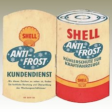 Shell Anti-Frost Vintage Booklet in Shape of Can.