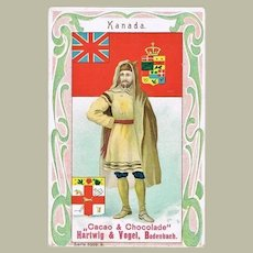 Canada Art Nouveau Chocolate Trading Card