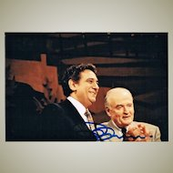 Placido Domingo and Marcel Prawy Photo. Domingo Signature. CoA