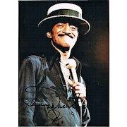 Sammy Davis Junior Autograph on Color Photo. CoA