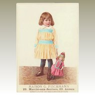 Lobby Card with Girl with Doll. France. App. 1910