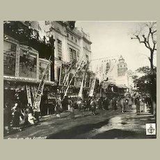 Old Japan Attractive Photo with Street Scene 12 x 9 inches