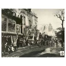 Old Japan Attractive Photo with Street Scene. 12 x 9 inches