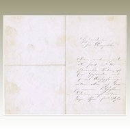 Franz Liszt hand-signed Letter from 1876. CoA