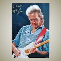 Spencer Davis Autograph CoA. 11 x 15