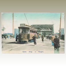Old Shanghai Postcard Tram at Garden Bridge