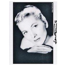 Joan Fountaine Autograph Signed Photo CoA