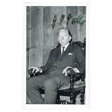 Paul Getty Autograph: Signed Photo, and Compliments. CoA