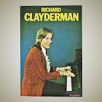 Richard Clayderman Autograph: Early, hand signed Postcard. CoA