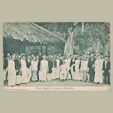 Indonesia. Vintage Postcard Royals, Netherlands Indies.