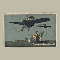 German Continental Company Art Nouveau Postcard from 1917