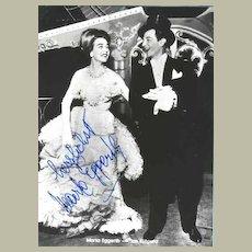 Marta Eggerth Autograph. Old b/w Photo. CoA