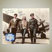 George Chakiris Autograph: Movie Still 633 Squadron. CoA