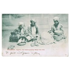 Singapore Vintage Postcard with Jugglers 1907 to Pola